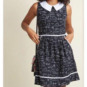 ModCloth science black retrolicious A line dress